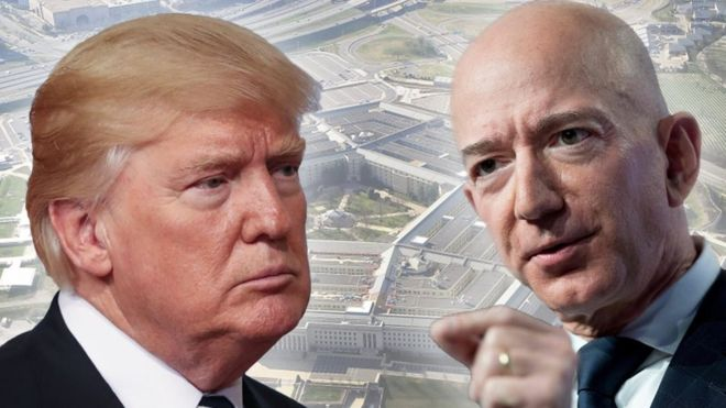 Várias vezes, Trump já deixou evidente sua hostilidade em relação ao dono da Amazon, Jeff Bezos