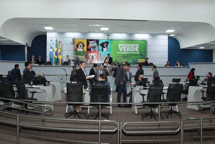 Os vereadores de Campo Grande em sessão