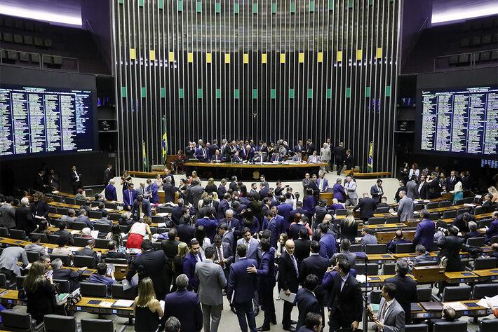 Sessão do Congresso Nacional em Brasília