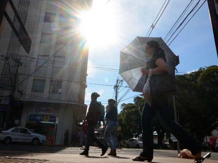 Em Campo Grande, as temperaturas atingiram 42º C