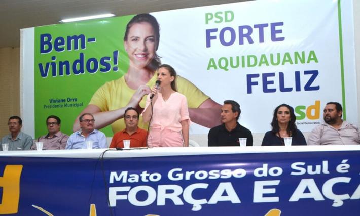 Bancada do PSD na filiação de Viviane Orro