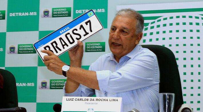 Coletiva sobre placas Mercosul