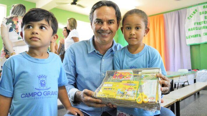 O prefeito de Campo Grande, Marquinhos Trad (PSD)