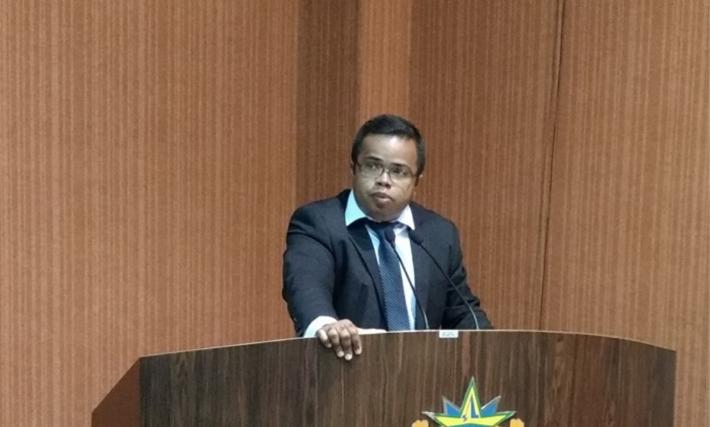 O presidente da Câmara de Camapuã Lellis Ferreira da Silva (MDB)