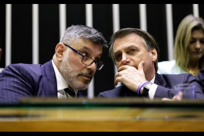 Deputado federal Alexandre Frota e o presidente da República, Jair Bolsonaro