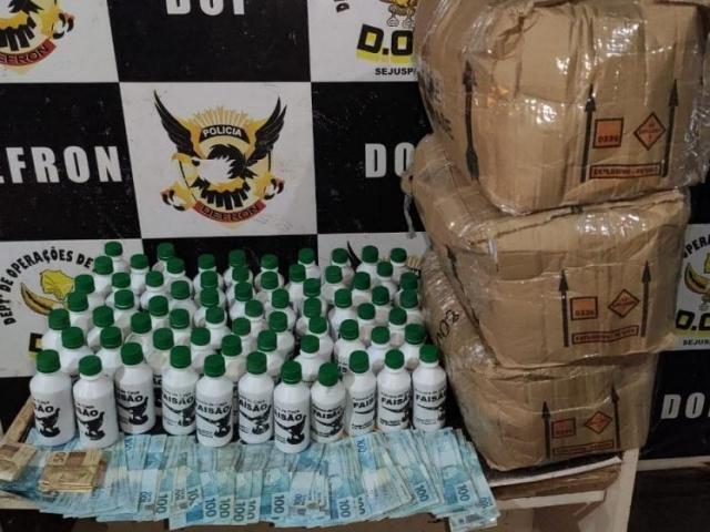 Explosivos e dinheiro foram apreendidos | MS Notícias