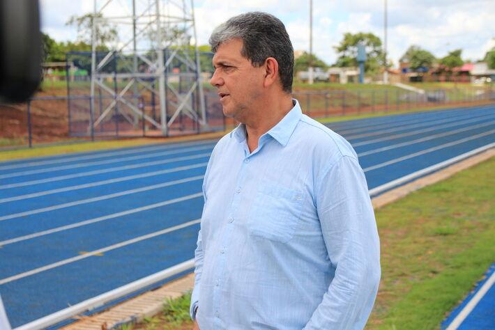 O presidente da Câmara Municipal, Prof. João Rocha