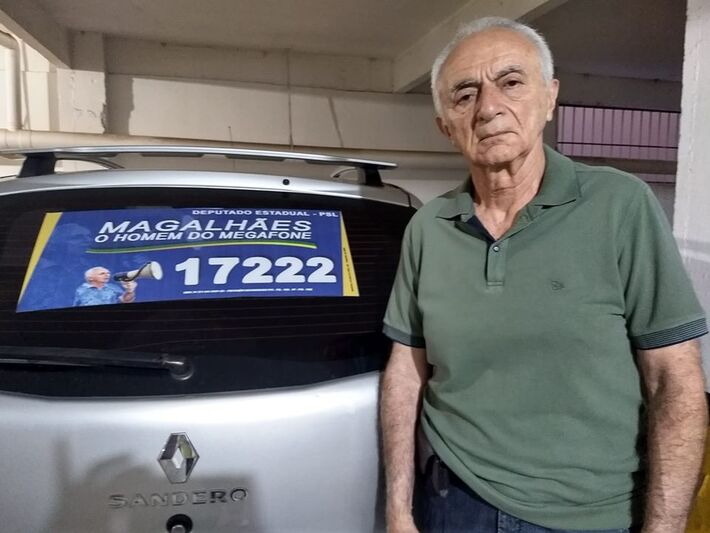 José de Magalhães Filho, o homem do megafone | MS Notícias