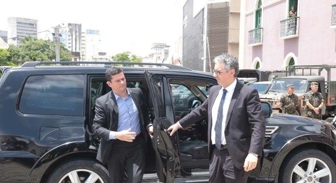 O ministro Sergio Moro durante visita ao Ceará