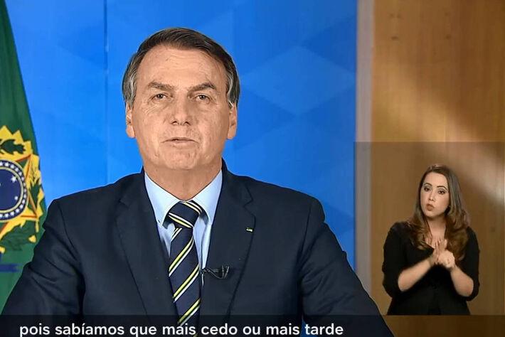 Bolsonaro fez pronunciamento sobre o coronavírus nesta terça (24)