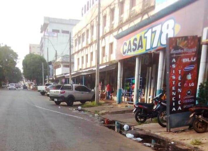 Rua nessa manhã em Pedro Juan Caballero