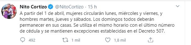 Comunicado do presidente Laurentino Cortizo