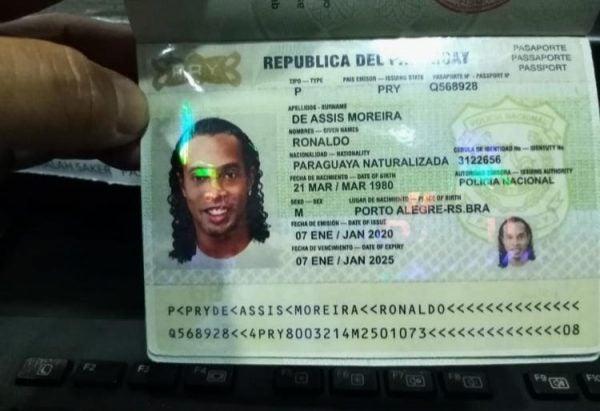 Ronaldinho foi embaixador do turismo do governo de Jair Bolsonaro
