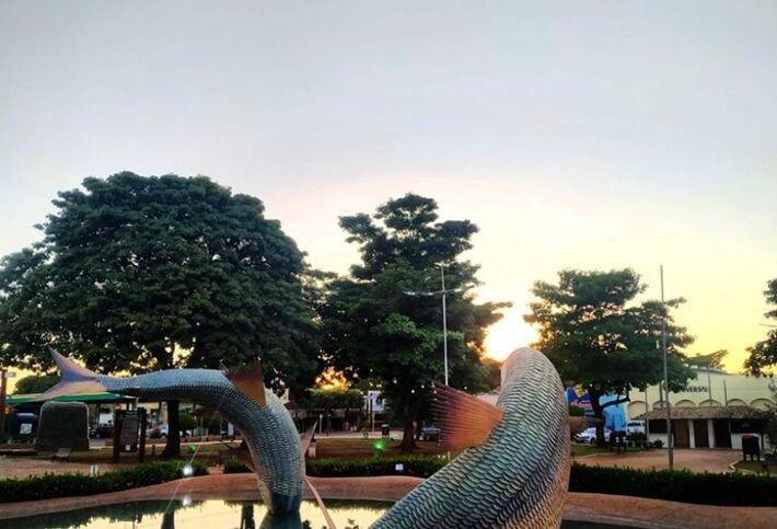 A Praça da Liberdade, em Bonito