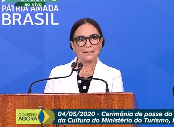 A nova Secretária de Cultura e Turismo, Regina Duarte