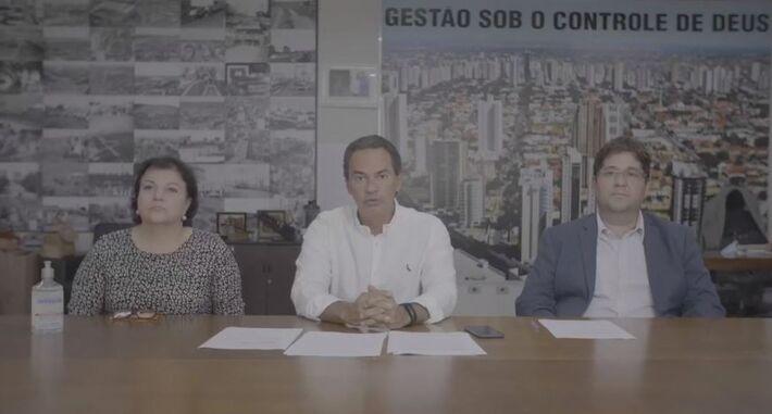 Coletiva via web realizada na prefeitura de Campo Grande nesta quarta-feira (18)