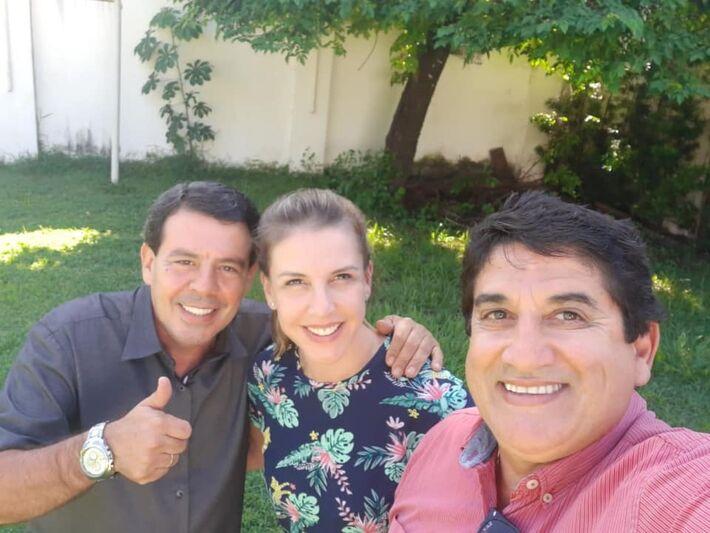 Joaquim Passos, do PP; Viviane, do PSD; e Yussef Saliba, do PDT.