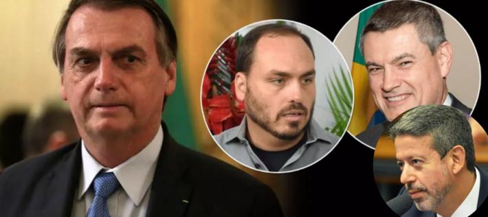 Bolsonaro, Lira, Carlos e Valeixo