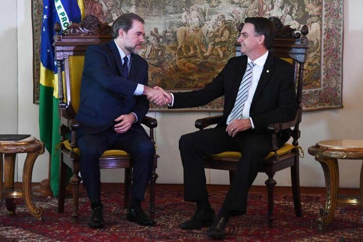 O presidente Jair Bolsonaro e o ministro do Supremo Tribunal Federal (STF), Dias Tofoli