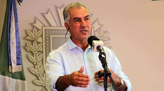 O governador Reinaldo Azambuja