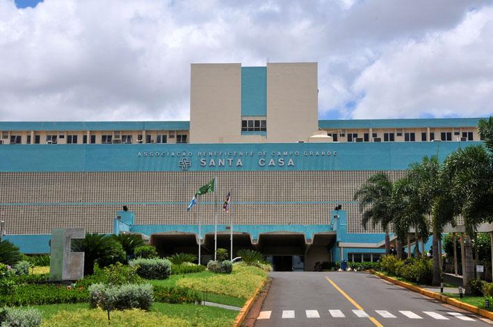 Fachada do Hospital Santa Casa em Campo Grande