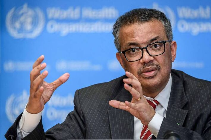 O director-geral da Organização Mundial da Saúde, Tedros Adhanom Ghebreyesus, durante entrevista sobre o coronavírus