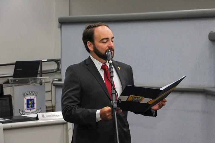 O vereador João César Mattogrosso