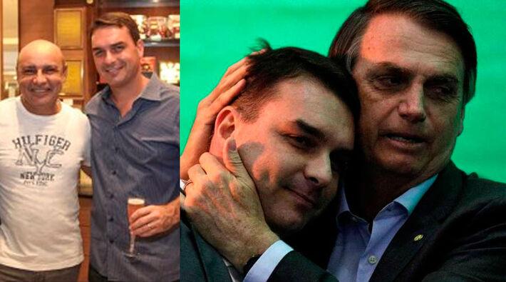 lávio Bolsonaro, com o ex-assessor Fabrício Queiroz e com o pai, Jair