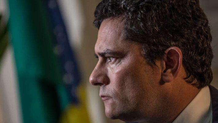 """""""Me desculpe aqui os seguidores do presidente se essa é uma verdade inconvenie"""", disse o ex-minsitrro da Justiça Juiza Sérgio Moro                                                            nte"""