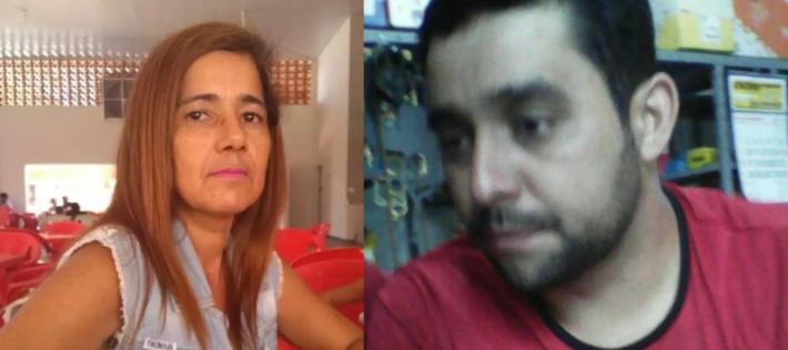 O assassino Weber à direita e a sogra, Elza Lima Soares