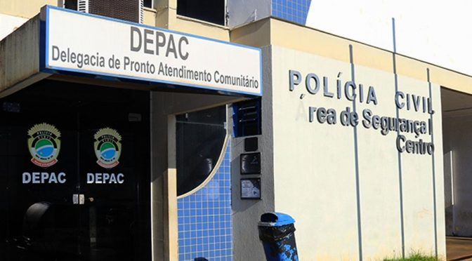 Fachada da Depac-Centro em Campo Grande