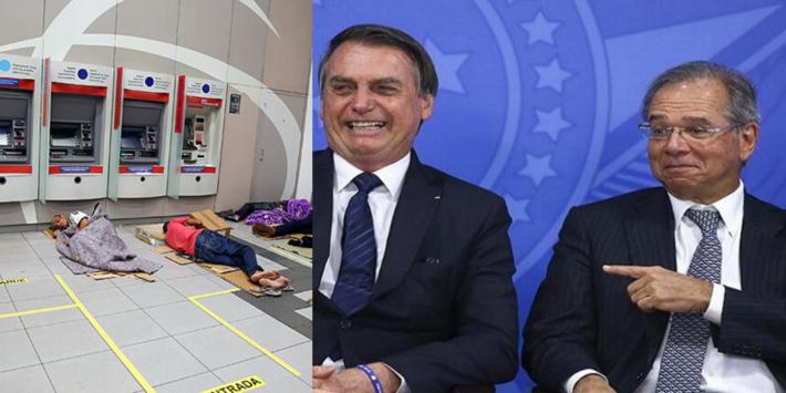 O presidente Jair Bolsonaro e o ministro da Economia