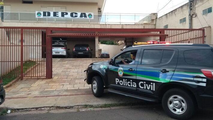 Fachada da DPCA em Campo Grande - MS