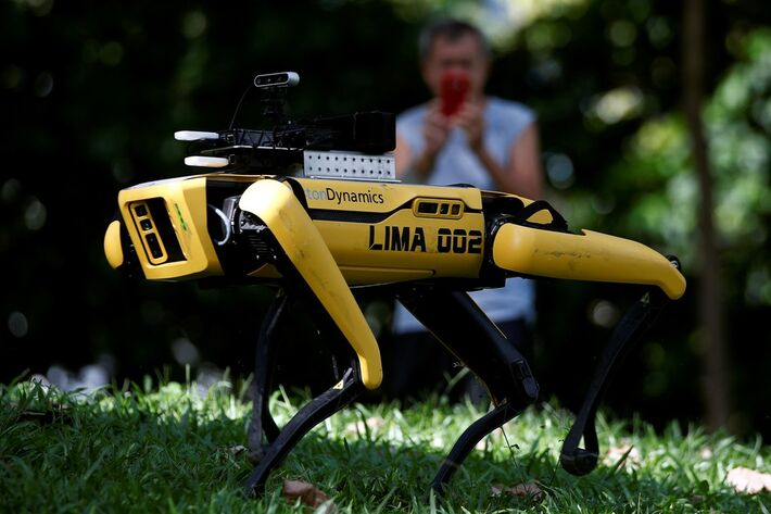 O cão robô Spot, da Boston Dynamics