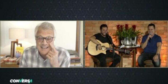 Ele e o parceiro Bruno participaram do 'Conversa'