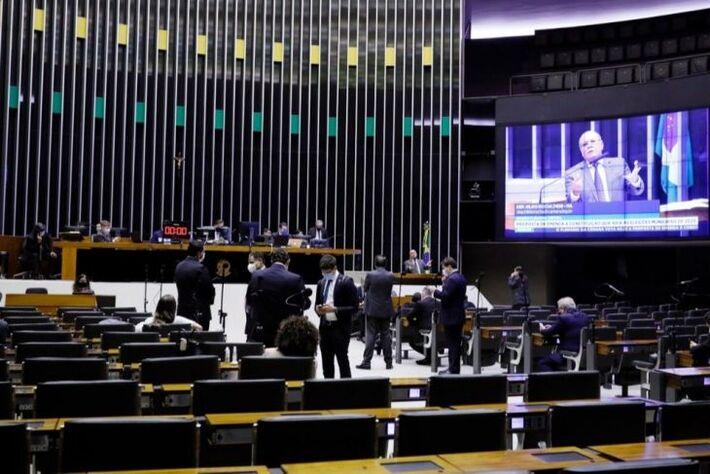 Plenário da Câmara na votação do adiamento