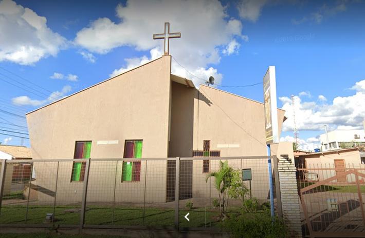 Fachada da Igreja Matriz Senhor Bom Jesus - Rua Cândida Lima de Barros, 293, no Bairro Tiradentes
