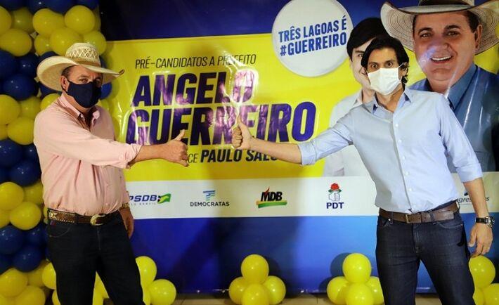 Ângelo Guerreiro e o candidato a vice Paulo Salomão