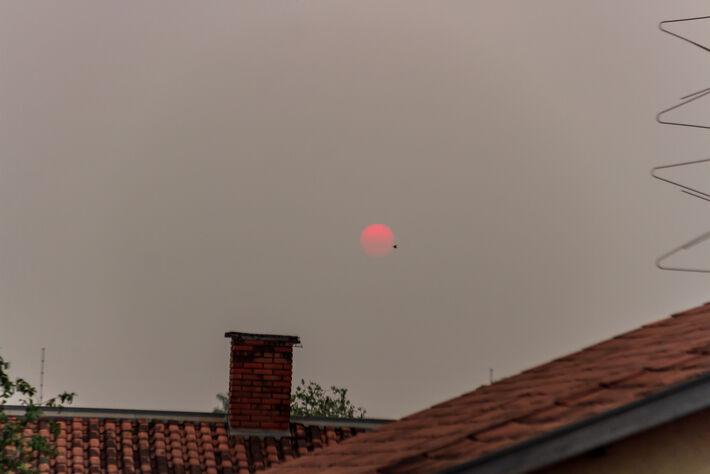 Sol nesta  5ª-feira em Campo Grande (MS)