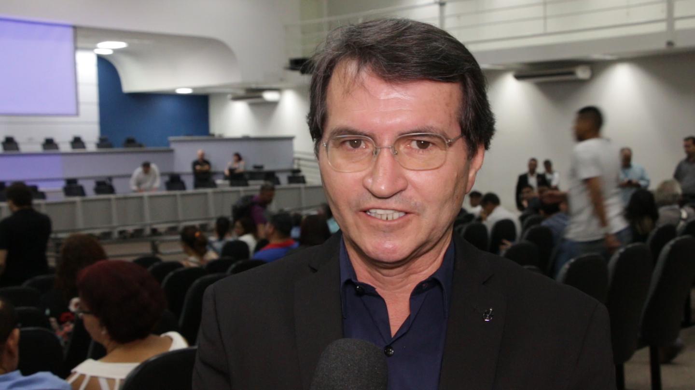 Venício Leite, liderando movimento contra Energisa | MS Notícias