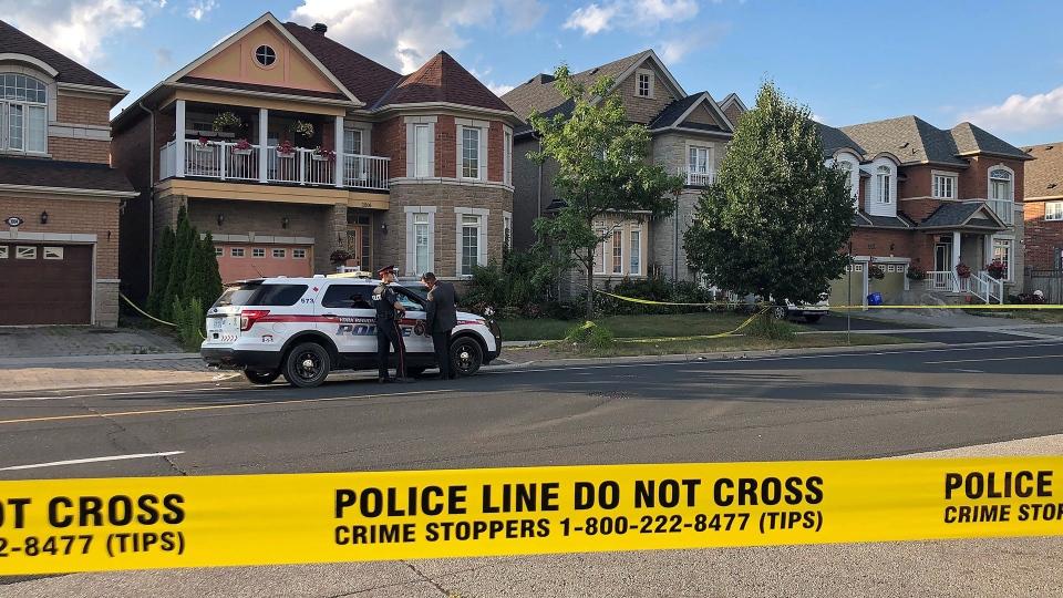 A casa na Avenida Castlemore, onde ocorreram os assassinatos na tarde de 27 de julho de 2019.