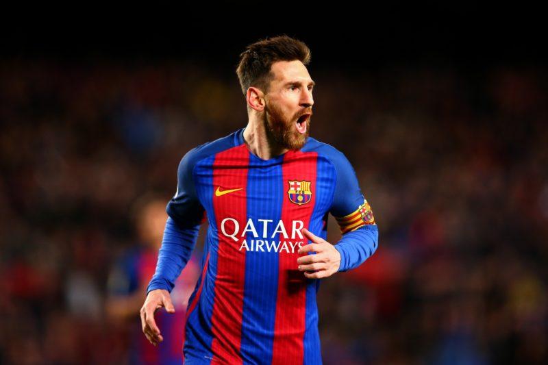 O jogador Lionel Messi