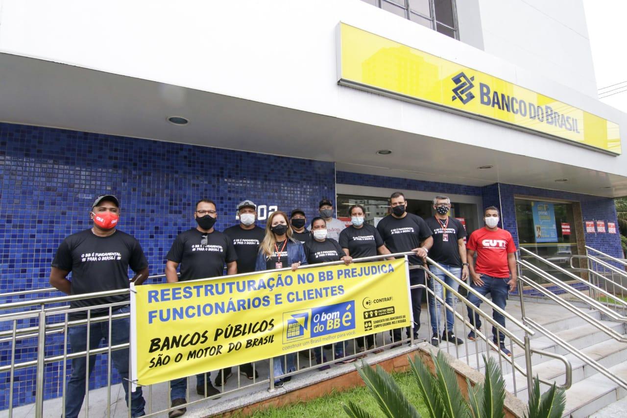 Paralisação na Capital, contra pacote de reestruturação do BB, deve durar 24h. Foto (Assessoria)