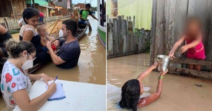 Doutor Rodrigo Damasceno atende famílias em meio a enchentes que afetam o Acre