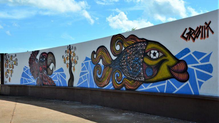 Novo muro entregue à comunidade do Vila Nasser em Campo Grande