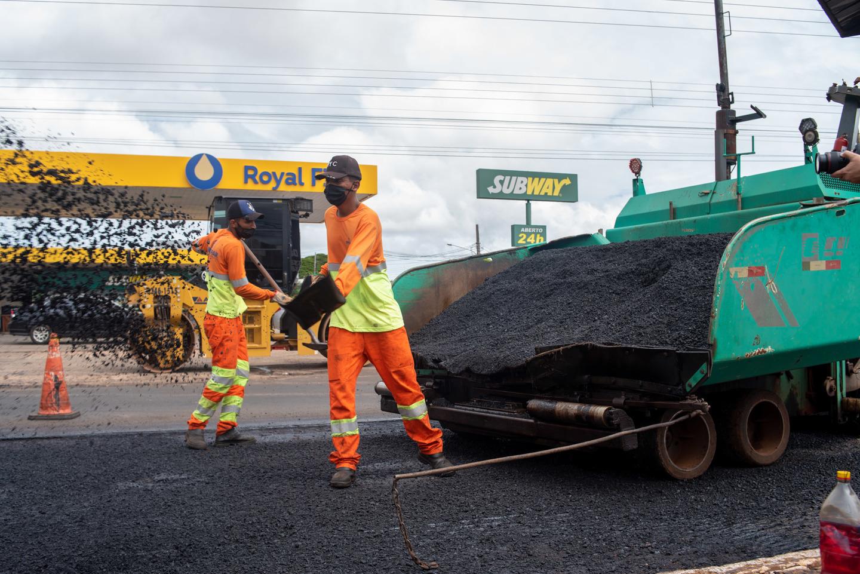 Dois primeiros braços do Corredor Sudoeste do transporte coletivo já estão quase prontos, sinalizados e com semáforos instalados