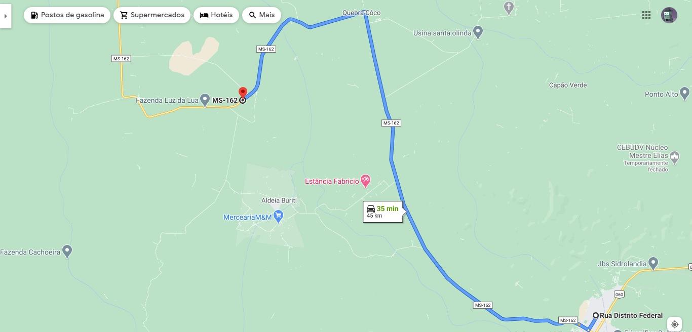 Mapa mostra onde, aproximadamente, o veículo usado por Jadir na fuga foi encontrado