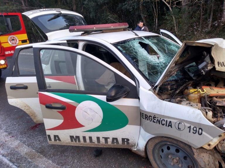 Situação da viatura após o acidente.