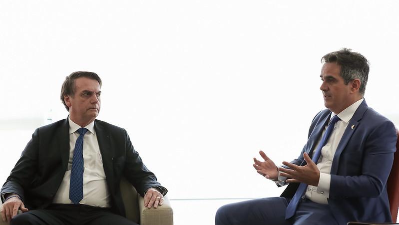 Presidente da República, Jair Bolsonaro e o Senador Ciro Nogueira (PP-PI), Presidente Nacional do PP. (Brasília - DF, 04/04/2019). Foto: Marcos Corrêa/PR