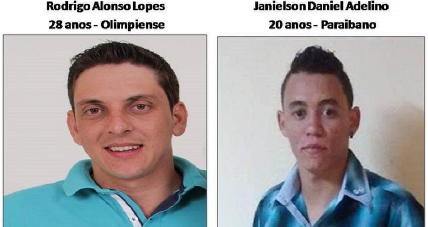 Estes são os dois jovens eletricistas que desapareceram misteriosamento no ano de 2014 em Olímpia. Os familiares ainda tinham a esperança de encontrá-los vivos.